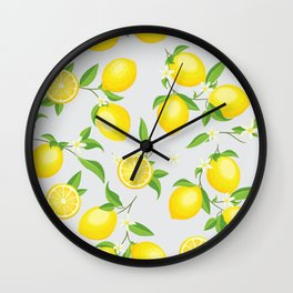 You're the Zest - Lemons on White Wall Clock