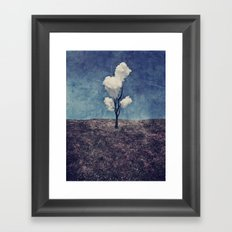 Tree Clouds Framed Art Print