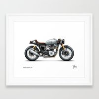 moto Framed Art Prints featuring Moto 33 by Holographic Hammer