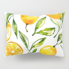 lemon watercolor Pillow Sham