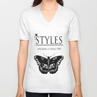 harry styles V-neck T-shirts featuring Styles by 90's Class
