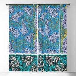 Lilag Art Nouveau Flower Tiles Blackout Curtain