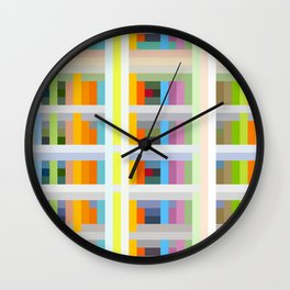 colorful geometric pattern design Negret Wall Clock