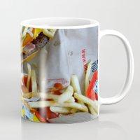 junk food Mugs featuring Junk Food by Renatta Maniski-Luke