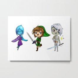 Zelda Chibis Metal Print