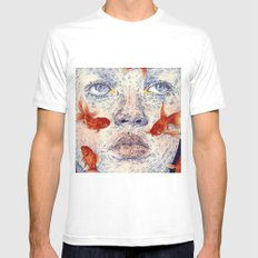 SWIMMERS SMALL White Mens Fitted Tee