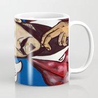 kubrick Mugs featuring Kubrick by Hugo Maldonado