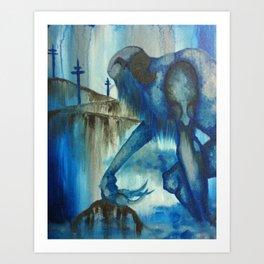 The Blue Giant Art Print