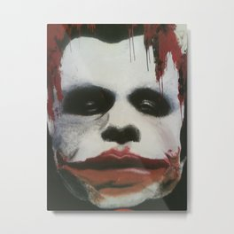 The Joker Mural Metal Print