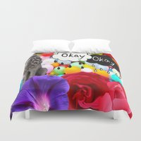 okay Duvet Covers featuring okay... by Aldo Couture