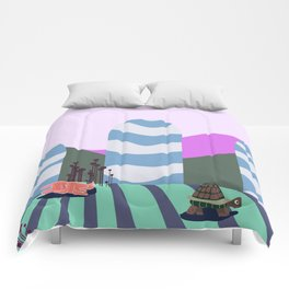 hare and tortoise fable Comforters