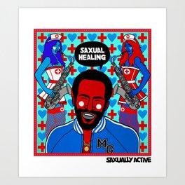 Saxual Healing Art Print