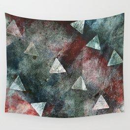 Dark Triangles Wall Tapestry