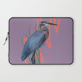 Great blue on the Bayou Laptop Sleeve
