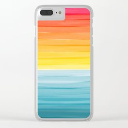 Sunset on the Ocean Minimalist Painting Clear iPhone Case
