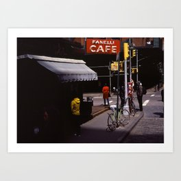 Cafe Fanelli Art Print
