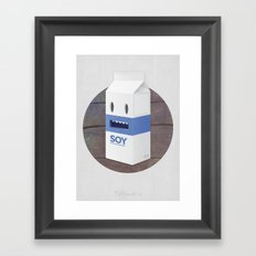Soy Milk Framed Art Print