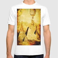 The transformation of pyramids White Mens Fitted Tee MEDIUM