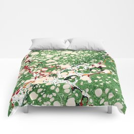 Marbled Green Bubbles Comforters