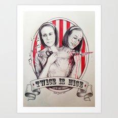 Tattler Twins  Art Print