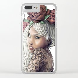 Queen of Flowers Clear iPhone Case