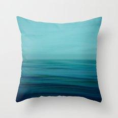 Greenish Blues Throw Pillow