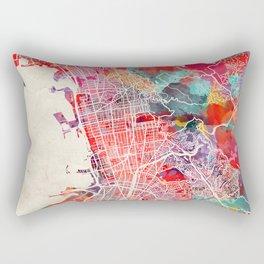 Berkeley map California painting 2 Rectangular Pillow
