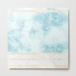 Pastel Marble Composition #5 Metal Print