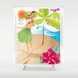 Hula Girl Shower Curtain