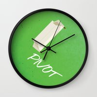pivot Wall Clocks featuring Friends 20th - Pivot by Allison Hoover