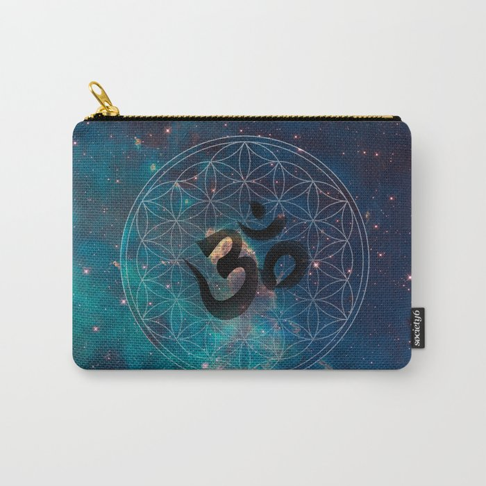 Om & Flower of Life Carry-All Pouch