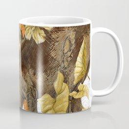 Jurassic Stegosaurus: Orange & Gold Coffee Mug