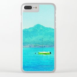 Lake Como in watercolor Clear iPhone Case