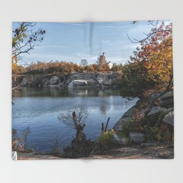 Foliage at Halibut quarry Throw Blanket