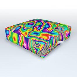 Warped Rainbow Outdoor Floor Cushion