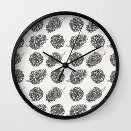 Pinecone Pattern Wall Clock