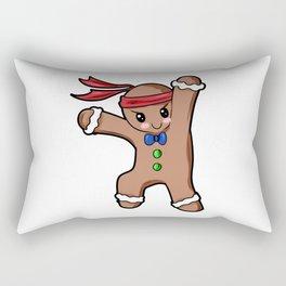 Gingerbread Man Christmas Present Gift Baking Cartoon Rectangular Pillow