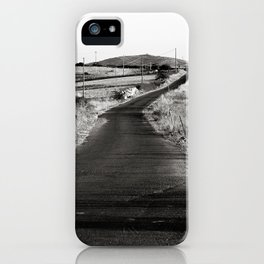 Abandoned Country Road - Sardinia - Italy iPhone Case