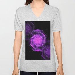 Purple Vortexes of Vortexes of Vortexes Unisex V-Neck