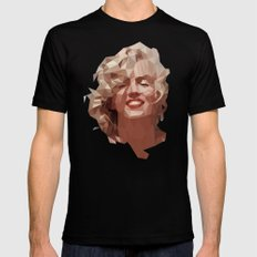 marilyn X-LARGE Mens Fitted Tee Black