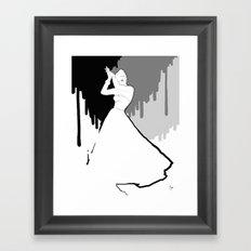 'Back to Black' Fashion Illustration Framed Art Print