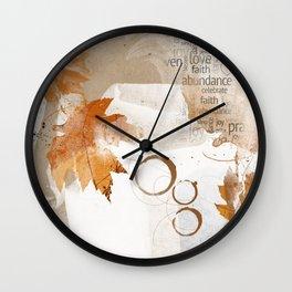 Autumn Maple Rust Wall Clock