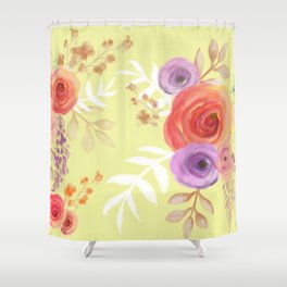 Floral Baby Shower Curtain