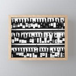 Wine Bottles in Black And White #decor #society6 #buyart Framed Mini Art Print