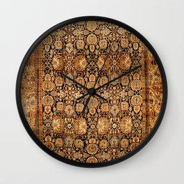 Antique Persian Malayer Rug Print Wall Clock