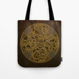 Tick-Tock Poem in Circular Gallifreyan Tote Bag
