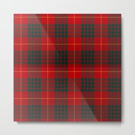 CAMERON CLAN SCOTTISH KILT TARTAN DESIGN Metal Print