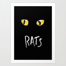 Rats Not Cats! The Musical Poster Art Art Print
