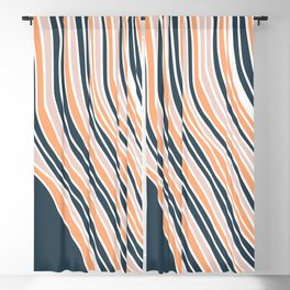 Abstract stripe line art Blackout Curtain