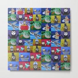 Sloth sloths designs cute art happy pictures designs for bag cushion cushions pillow pillows Metal Print